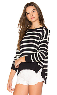 Striped hi lo sweater - Autumn Cashmere