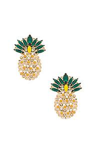 Серьги-гвоздики pineapple - Anton Heunis