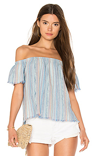 Fray hem off shoulder top - Bella Dahl