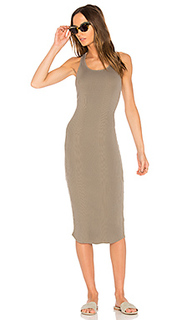 Scoop neck rib tank dress - MONROW