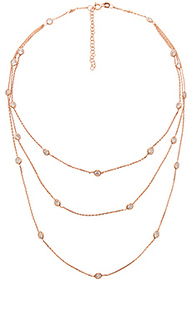 Multi bezel 3 layer necklace - joolz by Martha Calvo
