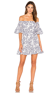 Floral-lace off the shoulder dress - J.O.A.