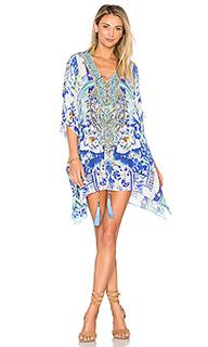 Короткое платье в восточном стиле на шнуровке - Camilla