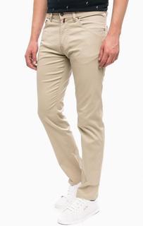 Бежевые зауженные брюки с карманами Pierre Cardin