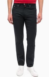 Синие хлопковые брюки зауженного кроя Pierre Cardin
