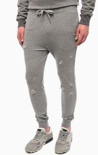 Рваные брюки с манжетами Replay