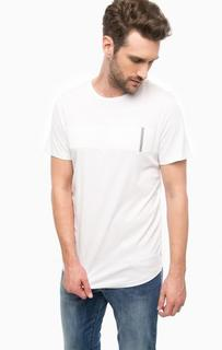 Белая хлопковая футболка Jack & Jones