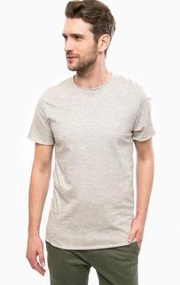Серая футболка с принтом на спине Jack & Jones