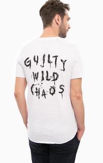 Белая футболка с принтом на спине Jack & Jones