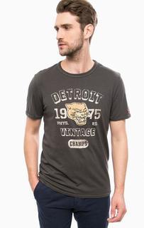 Серая футболка из хлопка с нашивками Jack & Jones