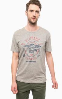 Серая футболка из хлопка Jack & Jones