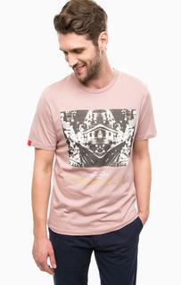 Сиреневая футболка из хлопка Jack & Jones