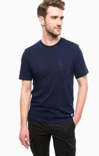 Синяя футболка с нагрудным карманом Superdry