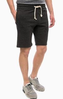 Серые шорты из хлопка в спортивном стиле Superdry