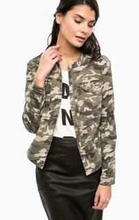 Куртка из денима камуфляжной расцветки Only