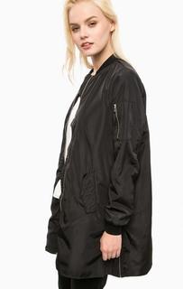 Удлиненная черная куртка на молнии Vero Moda