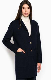 Пальто из полиэстера и шерсти с накладными карманами Pennyblack