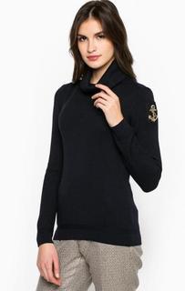 Синий шерстяной свитер Marina Yachting