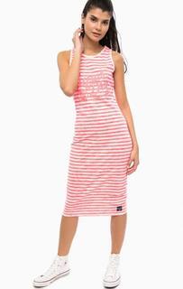 Хлопковое платье в полоску Superdry