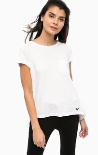 Белая футболка с кружевной спинкой Replay