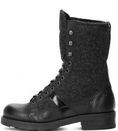 Демисезонные ботинки из натуральной кожи и текстиля O.X.S.