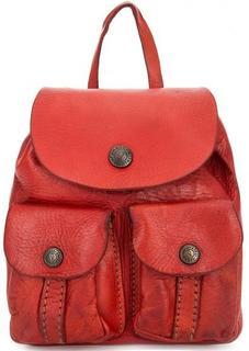 Красная сумка с одним отделом Campomaggi