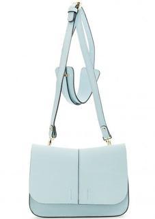 Маленькая кожаная сумка голубого цвета Gianni Chiarini