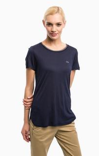 Синяя футболка с круглым вырезом Lacoste