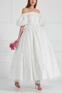 Платье из шелка и кружева Edem