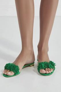 Замшевые сандалии Wild Thing Aquazzura