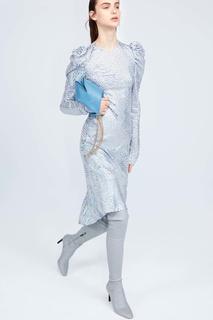 Платье с металлизированной отделкой Nina Ricci