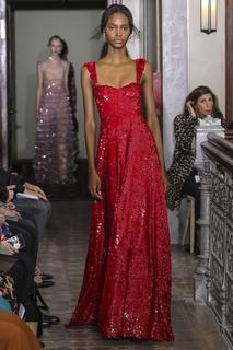 Платье в пайетках Valentino