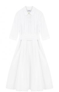 Кружевное платье-рубашка с поясом Weill