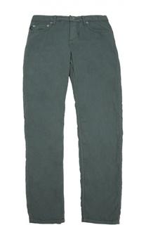 Хлопковые брюки прямого кроя Stone Island
