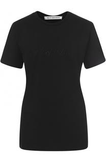 Удлиненная футболка прямого кроя с вышивкой Walk of Shame