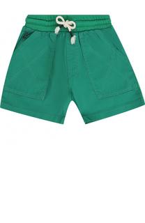 Хлопковые шорты с накладными карманами Kenzo