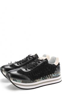 Комбинированные кроссовки Beth с бахромой Premiata