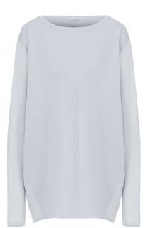 Кашемировый пуловер свободного кроя с круглым вырезом malo