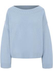 Кашемировый пуловер свободного кроя с вырезом-лодочка Vince