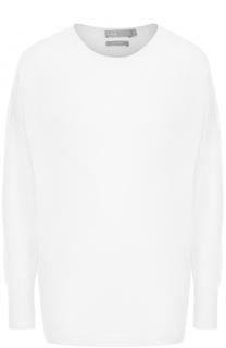 Удлиненный кашемировый пуловер с круглым вырезом Vince