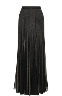 Плиссированная юбка с металлизированной отделкой Elie Saab