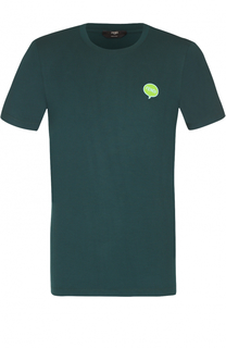Футболка из вискозы с логотипом бренда Fendi