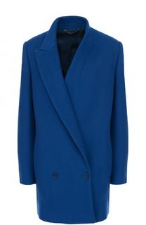 Двубортное укороченное пальто с асимметричными лацканами Stella McCartney