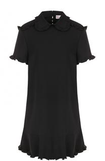 Платье-рубашка с оборками REDVALENTINO