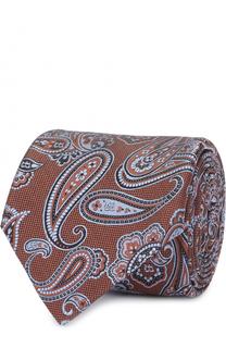 Шелковый галстук с узором пейсли Brioni