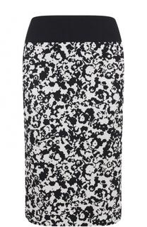 Вязаная юбка-карандаш с принтом HUGO
