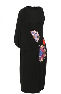 Платье-миди с драпировкой и принтом Givenchy