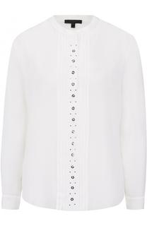 Шелковая блуза с планкой и воротником-стойкой Belstaff