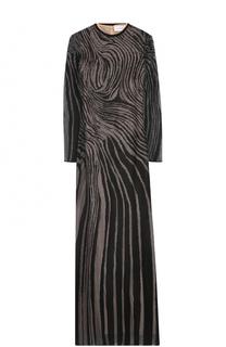 Приталенное платье-макси с длинным рукавом Zuhair Murad