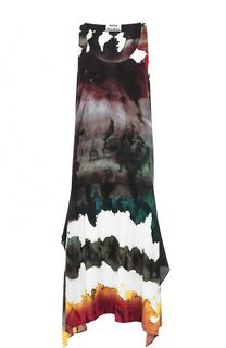 Платье-миди без рукавов с принтом Acne Studios